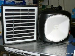 ソーラー充電LED